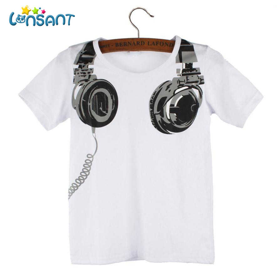 LONSANT High Quality Cotton Boy T-shirt 2018 Funny Baby Clothes Casual Short Sleeve Pasgeboren Baby Boy Kleding D2520