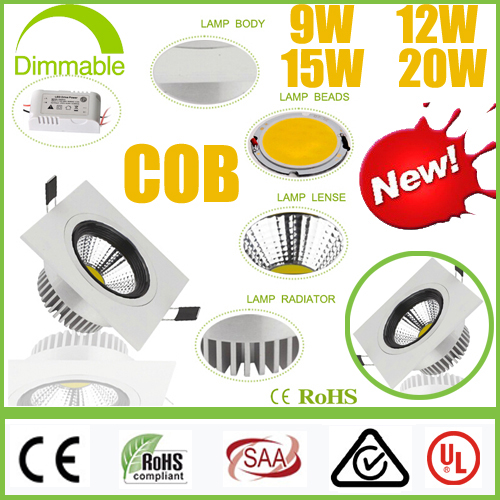 ⑦piazza Dimmable Cree 9 W 12 W 15 W 20 W Pannocchia Led Downlight