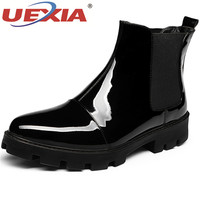UEXIA High Quality Men Leather Boots Fashion Wedding Dress Formal Leather Winter Men Shoes Winter Snow Boots For Men Brand Ankle