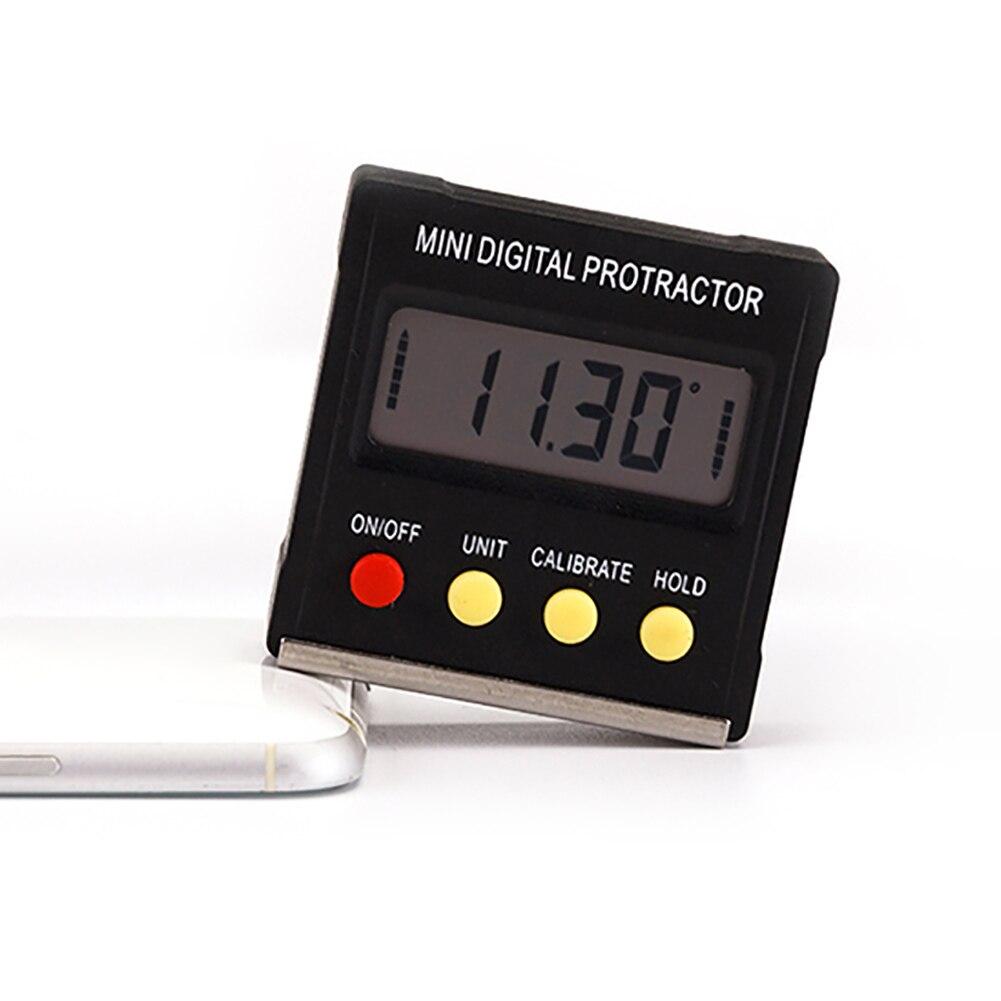 Digital Bevel Box Angle Gauge Meter Mini Digital Protractor 360 Degrees Magnets Base Digital Inclinometer Electronic Protractor free shipping mini digital protractor bevel inclinometer box 0 360 stdjt 1201q