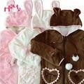 Look perfeito Mulheres Bonito Casaco Com Capuz Camisolas Lolita & Estilo Princesa Linda Modelagem Urso Flanela de Lã Quente Hoodies Para Meninas