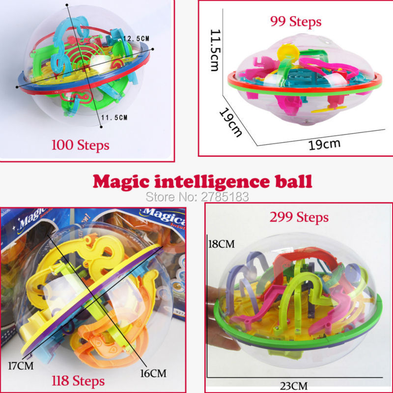 99-299 Steps 3D puzzle Ball Magic Intellect Maze Ball, Rolling Ball Marble Puzzle Balance Logic Ability Game Educational Toys