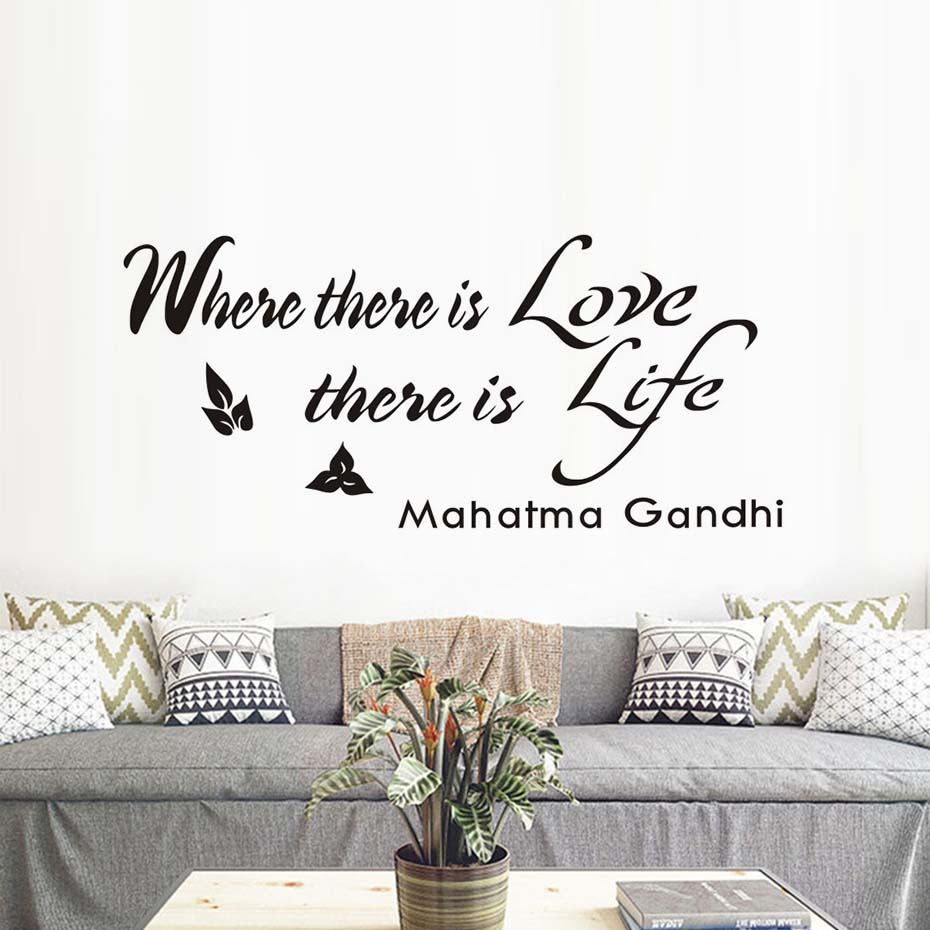 where there is love there is life wall sticker quotes self adhesive