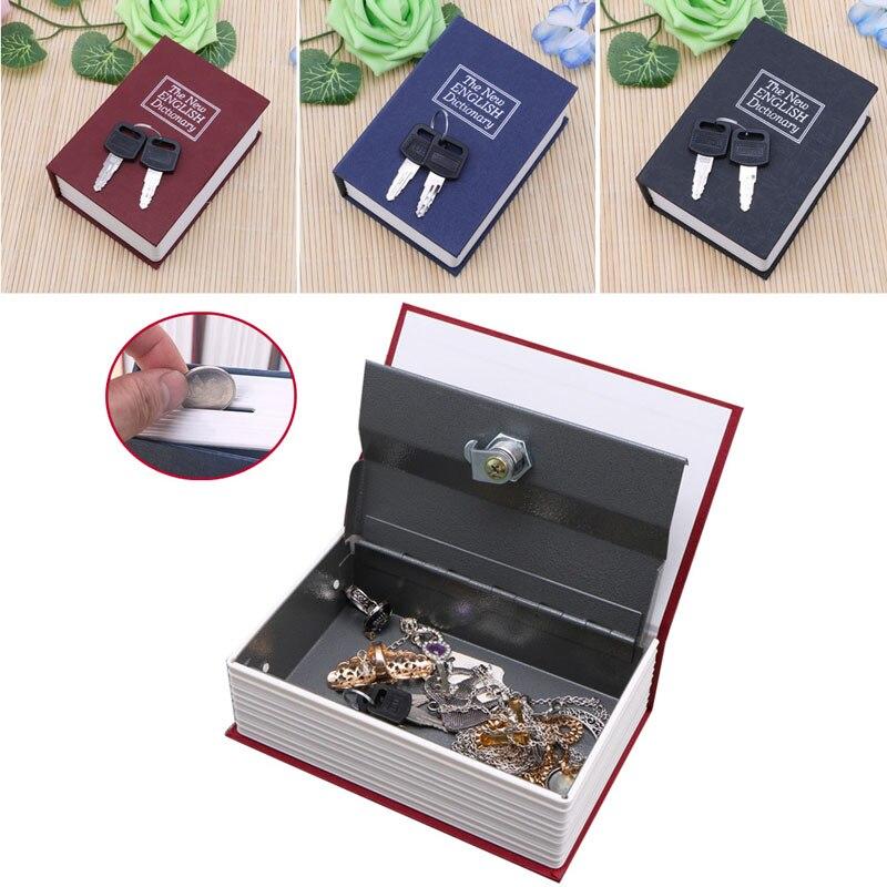 Mini Storage Box Cash Jewelry Secret Security Case Dictionary Book With Key Lock Jewelry Locker Box Cash Secure Boxes C42