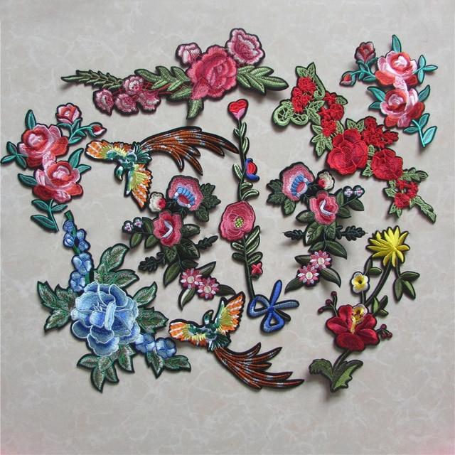 Mieszane Tanie Kwiaty Haftowane Patche Na Ubrania Naklejki