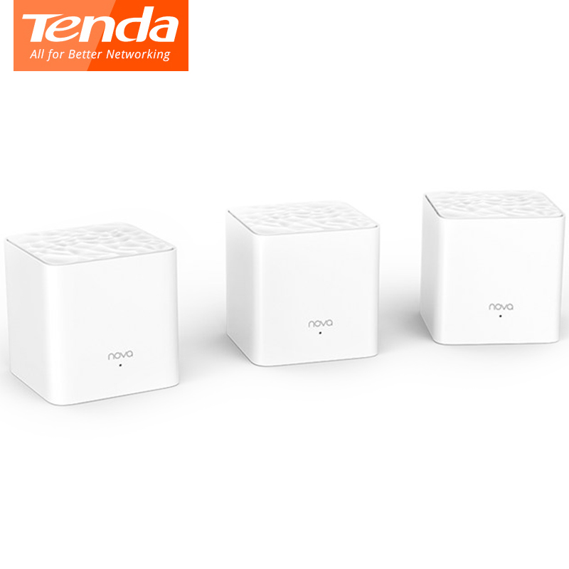 <font><b>Tenda</b></font> Nova MW3 Wifi Router AC1200 Dual-Band for Whole Home Wifi Coverage Mesh WiFi System Wireless Bridge, APP Remote Manage image