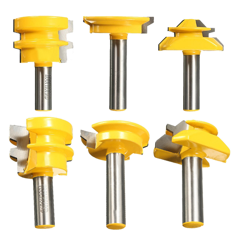 3pcs/set Lock Miter Glue Joint Drawer Router Bits 1/2 Shank Router Bits For Woodworking Cutter Tool 2 pcs 1 2t type shank 3teeth tenon cutter 4mm reversible glue bits of high quality dovetail router bits box joint router bit
