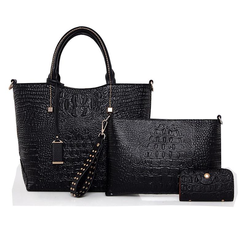 Fashion Composite Bag Set Ladies High Quality Handbags Designer Women Alligator Leather Bags Sac a Mian Femme De Marque Luxe high quality tote bag composite bag 2