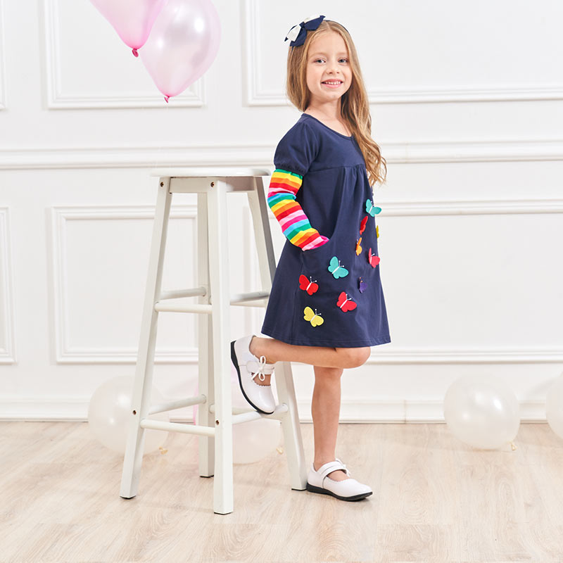 HTB1KVRJXLfsK1RjSszgq6yXzpXag DXTON 2018 New Girls Dresses Long Sleeve Baby Girls Winter Dresses Kids Cotton Clothing Casual Dresses for 2-8 Years Children