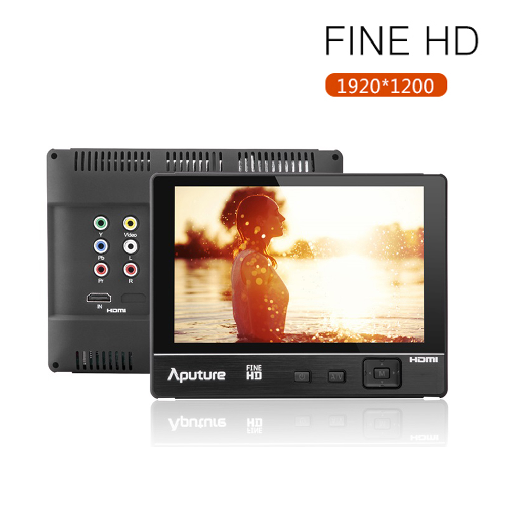 Aputure 7 VS-1 FineHD 1920*1200 Contrast 1200:1 LTPS 7.0 HD DSLR Camera LCD Monitor HDMI AV for Nikon Canon DSLR HDMI+Sunshade aputure vs 5 7 inch sdi hdmi camera field monitor with rgb waveform vectorscope histogram zebra false color to better monitor