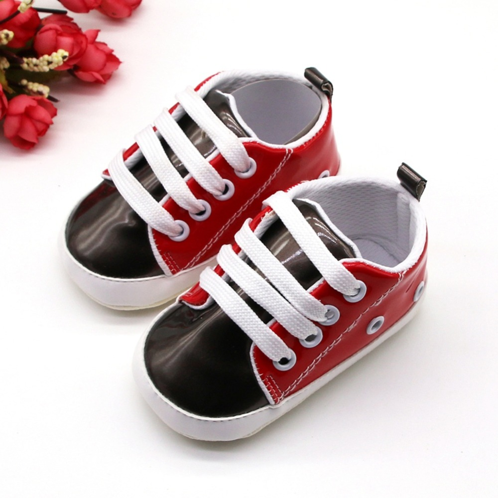 Toddler Shoes Baby Boys Girls Soft Sole Sneakers Anti-Slip Outdoor Walking Shoes Casual PU Shoes 0-18m
