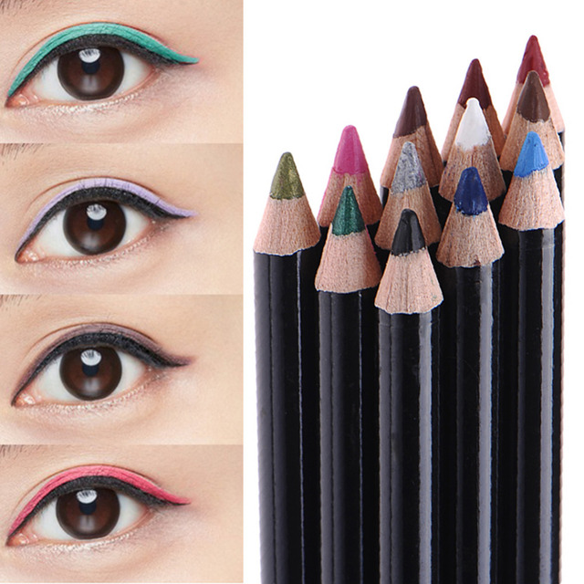 Aliexpress Buy High Quality 12pcsset Synthetic Waxes Eyeliner