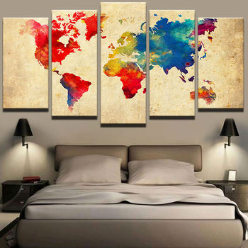 5d diy 5pcs Black world color Map diamond painting crystal 5d diamond embroidery spuare&round crystal painting cross stitchsets фото