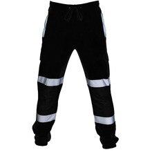 Модные мужские брюки для работы в дороге, высокая видимость, комбинезоны, повседневные рабочие брюки с карманами, осенние брюки, горячая Распродажа g3