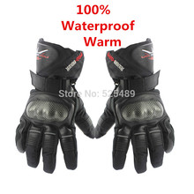 2014 Winter Motorcycle Gloves Waterproof Warm Motocross Racing Motos Motorbike Cycling Glove luvas Guantes M L XL Black Blue Red