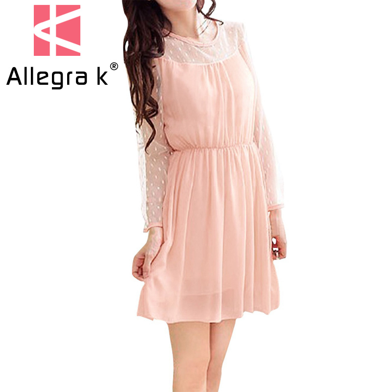 Allegra k long sleeve dress cheap
