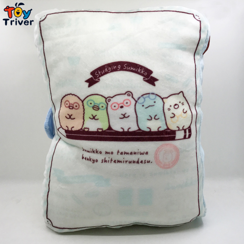 Japanese Animation Sumikko Gurashi Doll San X Corner Bio Plush Toy Pillow Hand Cushion Home Decor Birthday Christmas Gift Triver in Stuffed Plush Animals from Toys Hobbies