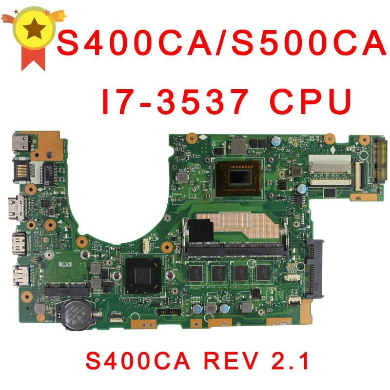 for asus S500c s400c S400CA S500CA MAIN BOARD original MOTHERBOARD 60NB0060-MBF000 69N0NUM1EA00 with I7 CPU цена 2016