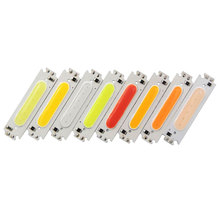 SUMBULBS 60*15mm COB LED Light Bulb 12V 2W LED Diode Lighting Chip Red Blue Pink Green Yellow White Color for DIY Car Lamp Bulbs