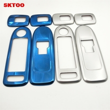 4pcs/Set Stainless Steel Chrome Electric Window Lifter Switch Panel Cover Trims Sticker OEM for Peugeot 508 Citroen C5