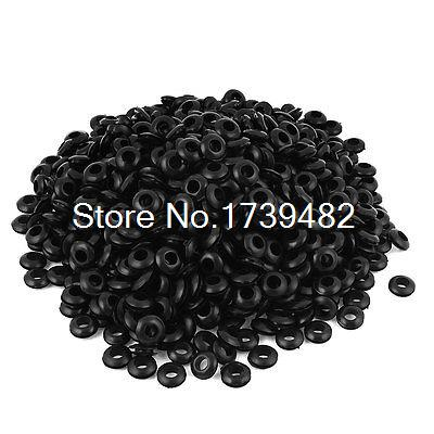 8mm Hole Black Rubber Plug Electrical Cable Wire Wiring Grommet Gasket 1000pcs 100pcs 3 4 5 6 7 8 10 12 14 16 18 20mm inner diameter cable wiring rubber grommets gasket ring wire protective loop black white