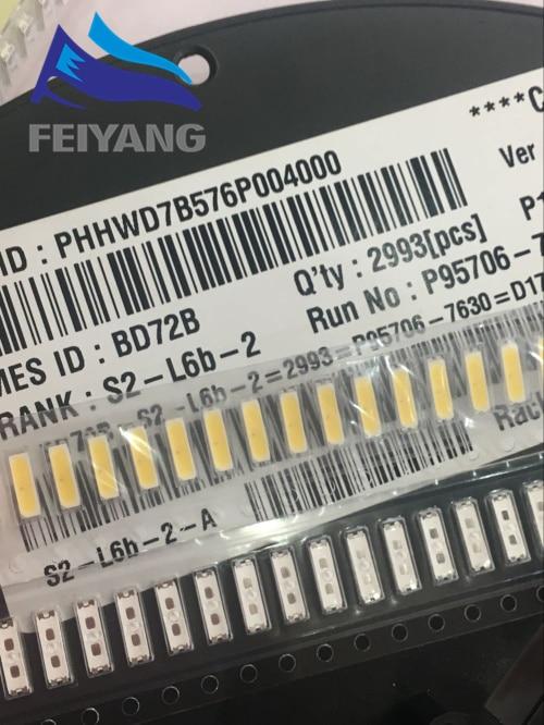 500PCS FOR LG LED 7020 3v TV Application Middle Power LED LCD TV Backlight 0.5W Cool white TV Application