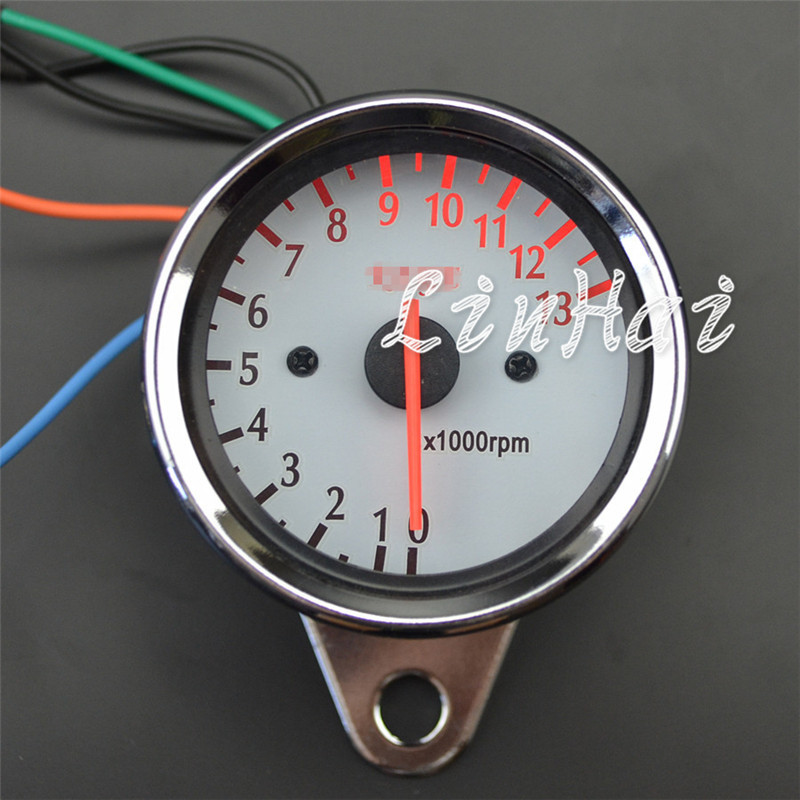 US $13 84 7% OFF|Universal Motorcycle Scooter Tachometer Gauge Rev Meter  RPM Gauge 13000 RPM-in Instruments from Automobiles & Motorcycles on