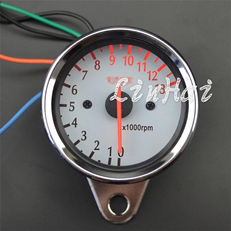 Verantwortlich Universal Motorrad Scooter Tachometer-lehre Rev Meter Drehzahlmesser 13000 Rpm Instrumente Automobile & Motorräder