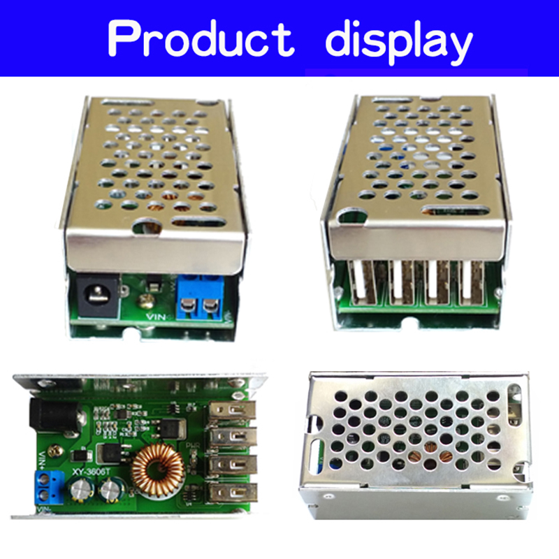 24V/12V To 5V 5A DC-DC Step Down Buck Converter Module Power Supply LED Lithium Charger #233517 mini dc 7 5 28v to usb socket dc 5v step down buck converter