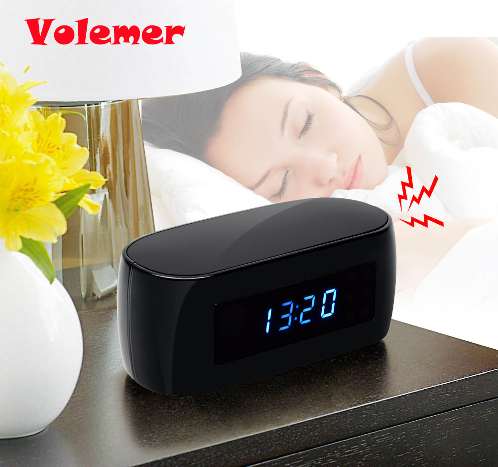 Volemer HD 1080P Table Clock Camera Mini Camera WIFI Camera Wireless P2P IP Cameras Nigh ...