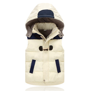 Image 3 - Child Waistcoat Children Outerwear Winter Coats Kids Clothes Warm Hooded Cotton Baby Boys Girls Vest For Age 2 12 Years Old