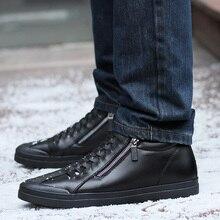 Zapatos para hombre casual diseñador de moda zapatos de cuero genuinos para hombres Slip on mocasines negro zapatillas de invierno zapatos de los hombres del otoño marca
