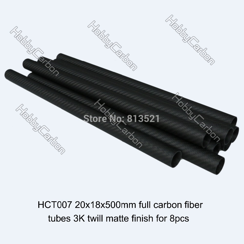 HCT007 hobby carbon 8pcs/pack 20x18x500mm 100% full hollow carbon fiber 3k twill matte tubes pipe boom hct005 best selling 8pcs pack 16x14x500mm 3k twill matte tubes rod boom 100% carbon fiber resin