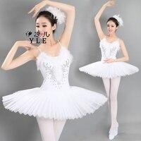 Ballet Dance Pure White Swan Lake Tutu Ballet Costume Hard Organdy Platter Dance Dress Ballerina Dress Dancewear