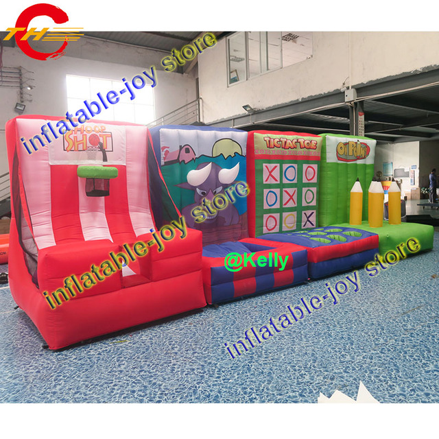 free air shipping 4 in 1 inflatable sport game carnival inflatable