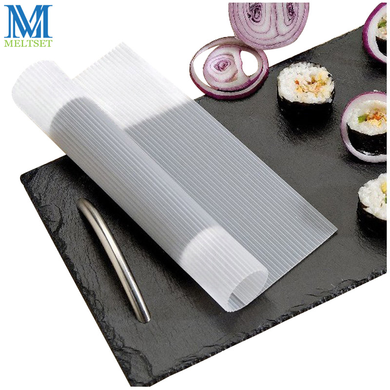 Food Safe Silicone Sushi Roll Tools Non-stick and Antibacterial Creative Kitchen Tools Onigiri Sushi Rolling Mat