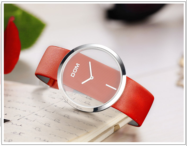 ladies casual leather watch - leather strap