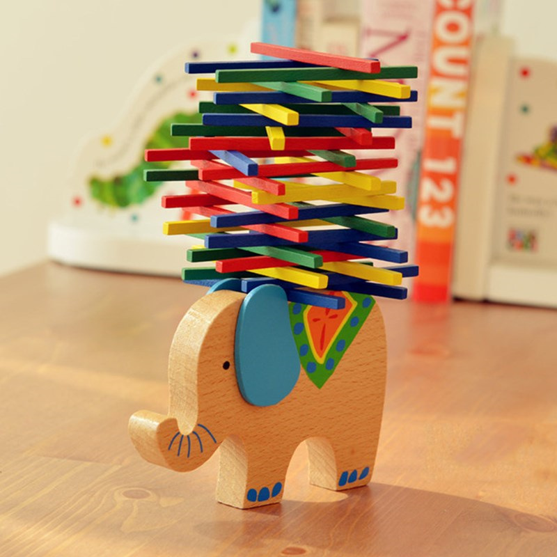 Baby Wooden Toy Educational animal Balancing Blocks Elephant/Camel Building Blocks Balance Game Montessori Blocks Gift For Child 50pcs hot sale wooden intelligence stick education wooden toys building blocks montessori mathematical gift baby toys