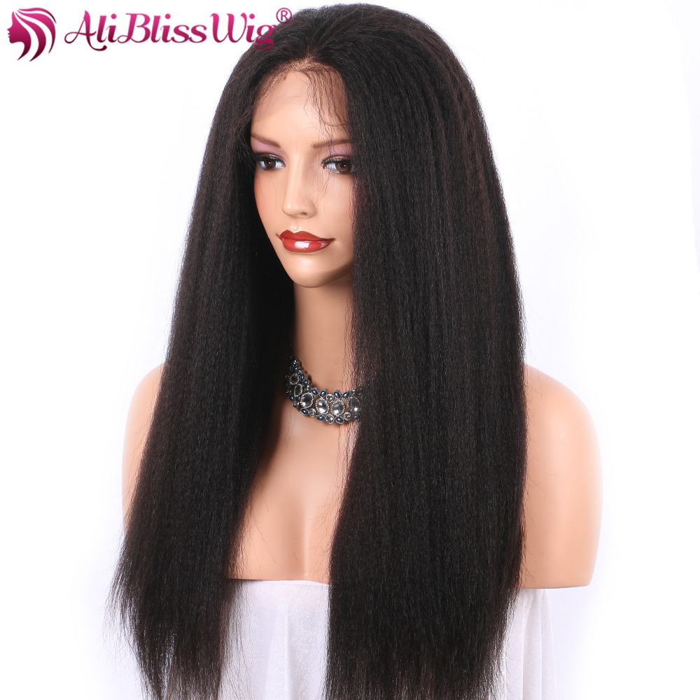 Kinky Straight 360 Lace Frontal Wigs For Women Italian Yaki Lace Front Human Hair Wigs Brazilian Remy Hair Full End Aliblisswig Human Hair Lace Wigs Lace Wigs