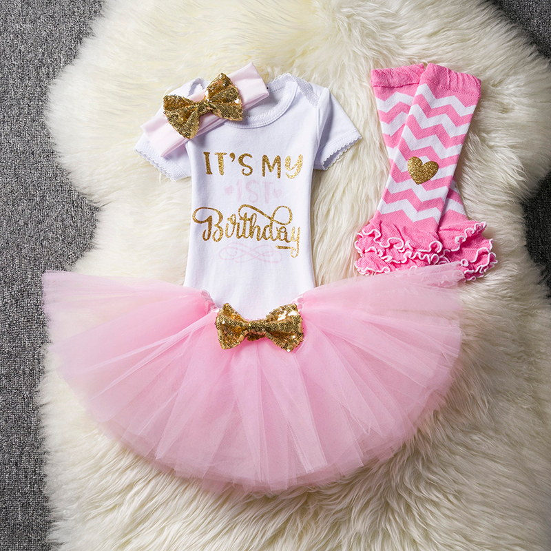 My Princess 1 Year Baby Girl Birthday Dress Girls Clothing Kids Clothes Print Number Outfits tutu Dresses for Girls Christening