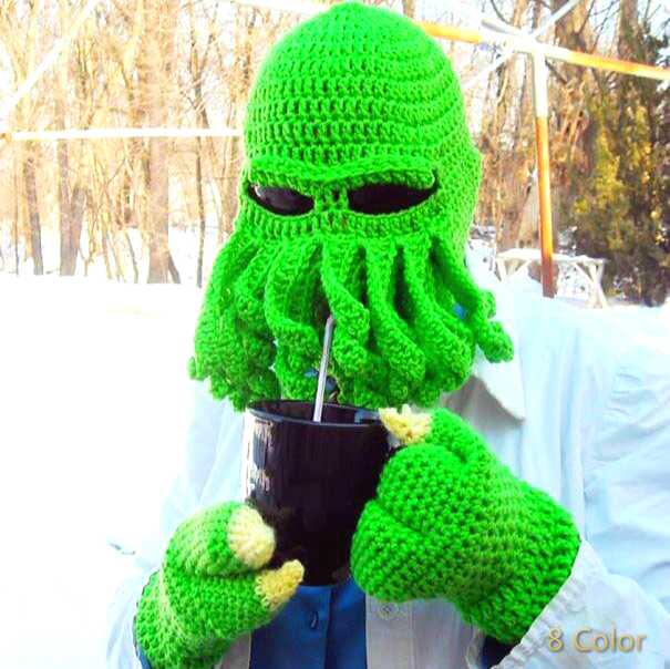 TTentacle Octopus Cthulhu Knit Beanie Hat Cap Wind Ski Mask Winter Hat  Bonnets Laine Homme Knitted Men Hat Winter Ski Cap MXM001-in Skullies    Beanies from ... 64565340543