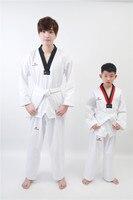 2018 Adult Male Female kids White Breathable cotton Taekwondo uniform pick size
