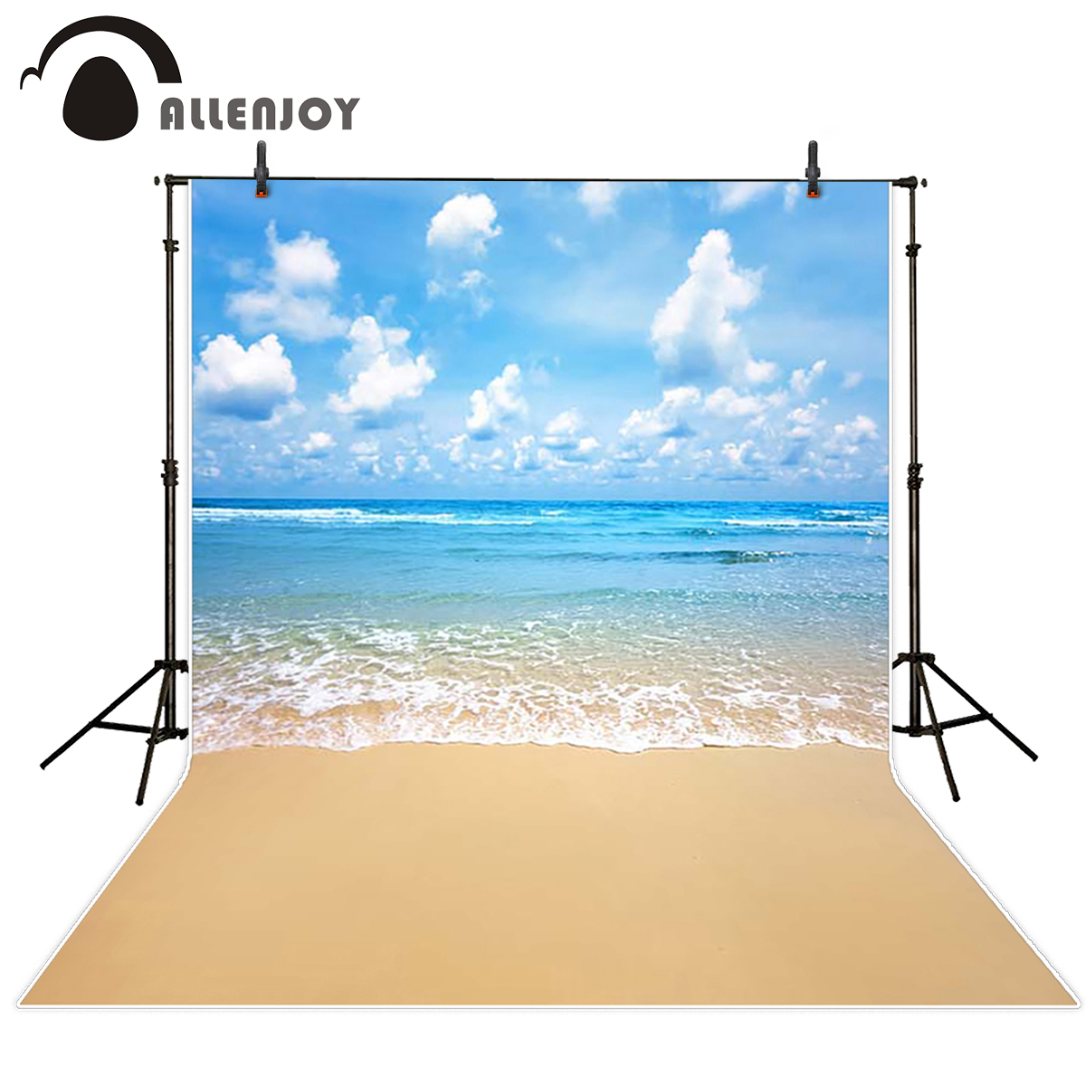 Allenjoy scenery photo backdrop Fresh beach summer water seaside backgrounds for photo studio background for photographic studio
