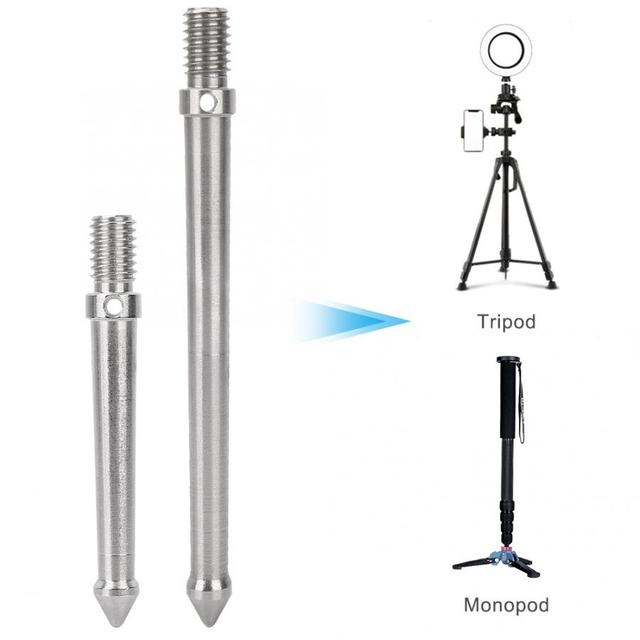 Metal Spike Mount Adapter for Tripod Monopod with 3/8 Inch Screw Thread Camera Accessories