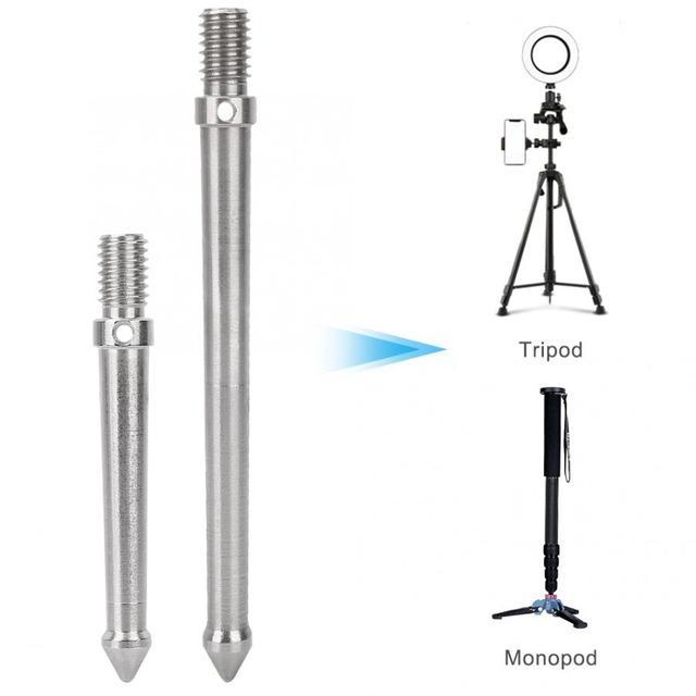 Metalen Spike Mount Adapter Voor Statief Monopod Met 3/8 Inch Schroefdraad Camera Accessoires