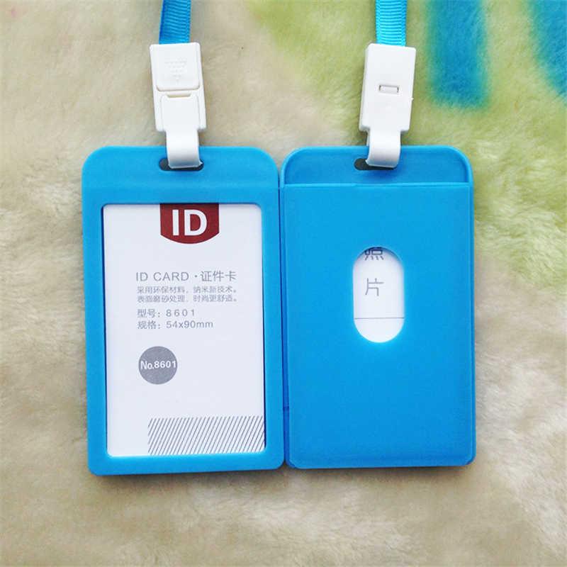 FHADST 2017 titular de la tarjeta de identificación retráctil carrete Lanyard nombre plástico tarjetas de crédito tarjeta de Banco correa de cuello titular de la insignia de identidad