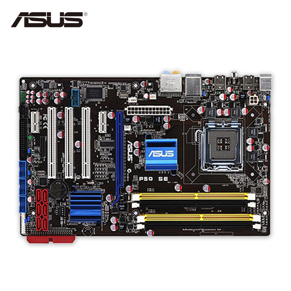 все цены на Asus P5Q SE Original Used Desktop Motherboard P45 Socket LGA 775 DDR2 16G ATX All Solid On Sale онлайн