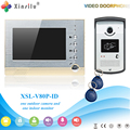 Xinsilu V80P-ID Doorbell Camera With 4.3inch Door Viewer Indoor Monitor Out Door Phone Bell Video Photo IR Voice Unlock