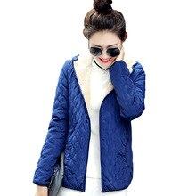 2017 Модные женские зимние куртка с капюшоном длинные флис тонкий Весна; базовой куртка женская верхняя одежда короткие девочек jaqueta feminina