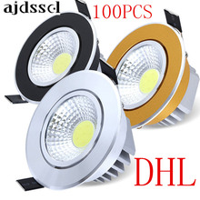 100PCS Super Bright Dimmable Led downlight light COB Ceiling Spot Light 3w 5w 7w 12w LED ceiling recessed Lights Indoor Lighting стоимость